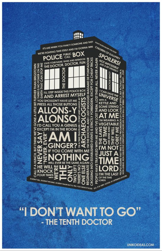 Dr Who Quote Poster