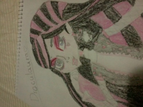 Monster High wallpaper entitled Draculaura sketch