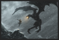 DragonBorn vs AlDuin - elder-scrolls-v-skyrim photo