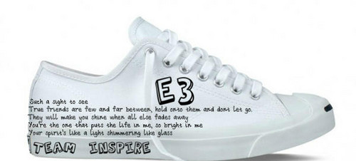 Emblem 3 wallpaper called E3 shoe design (by a fan)