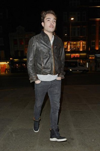ED WESTWICK outside BODO'S SCHLOSS BAR in लंडन 8 January 2013