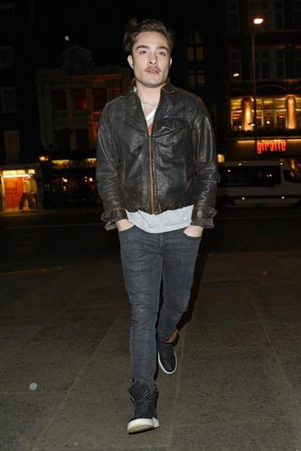 ED WESTWICK outside BODO'S SCHLOSS BAR in LONDON 8 January 2013