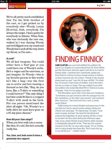 Finnick Odair kertas dinding titled EW Catching api, kebakaran magazine