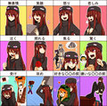 Enderman Girl Expressions 《我的世界》
