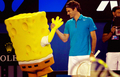 Federer and Spongebob
