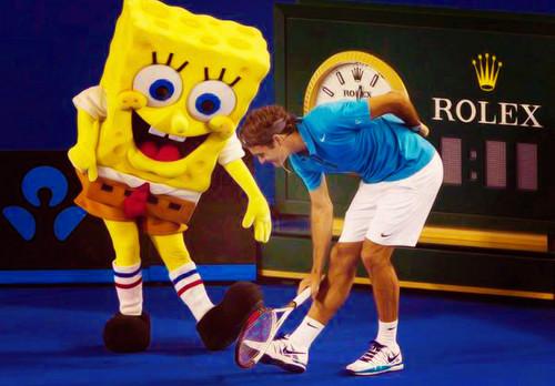 Federer and Spongebob