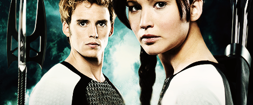 The Hunger Games wallpaper possibly with a portrait titled Finnick and Katniss
