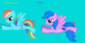 Firefly and Rainbow Dash - rainbow-dash fan art