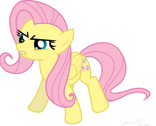 My Little Poney karatasi la kupamba ukuta probably with anime entitled Fluttershy