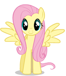 my little pónei, pônei - a amizade é mágica wallpaper possibly containing animê entitled Fluttershy