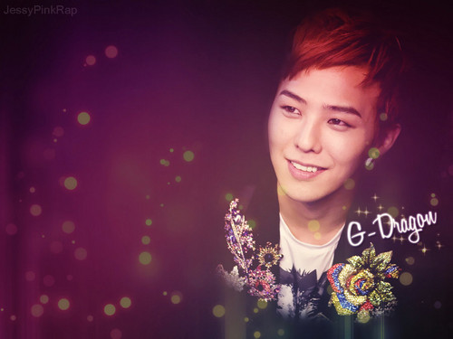 G-Dragon wallpaper possibly with a concert, a bouquet, and a portrait titled G★DRAGON