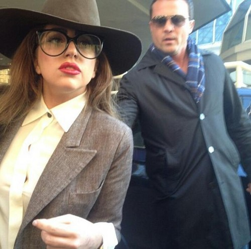 Gaga arriving to Vancouver
