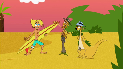 Johnny Test wallpaper with anime called Gil Surfed to Australia