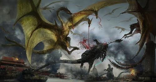 Godzilla 2014 Фан art