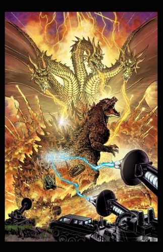 Godzilla achtergrond possibly containing a brand and anime entitled Godzilla