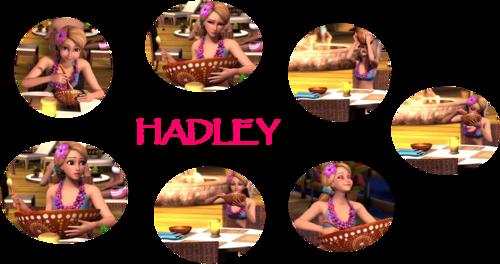 Hadley hogging her food