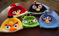 Hand Crocheted Angry Bird Toys and Beanies