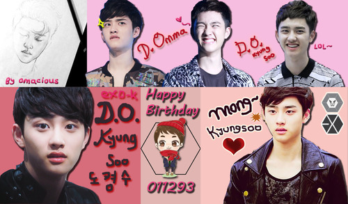 EXO K Wallpaper Possibly With A Portrait And Anime Titled Happy Birthday Kyungsoo