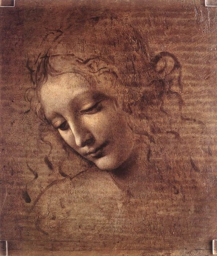 Head of a Woman or La Scapigliata by Da Vinci , c. 1508
