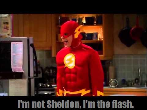 Sheldon Cooper wallpaper entitled I'm not Sheldon, I'm the flash