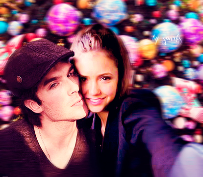 Ian Somerhalder and Nina Dobrev wallpaper possibly containing an outerwear, a well dressed person, and a business suit titled IANINA