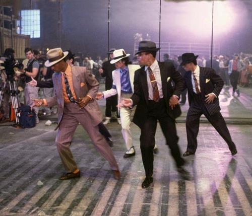 In rehersals for ''Smooth Criminal''