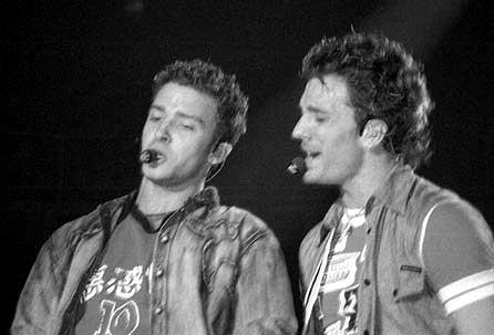 Justin Timberlake and JC Chasez wallpaper possibly with a drummer and a concert titled JC&Justin