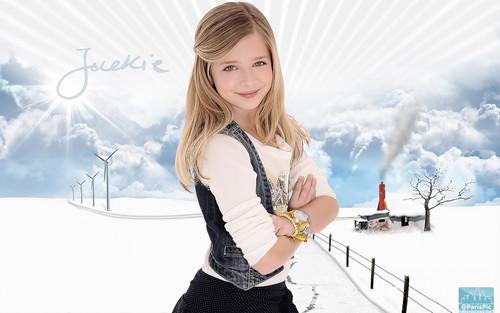Jackie Evancho Pretty Snow hariri karatasi la kupamba ukuta (@ParisPic)