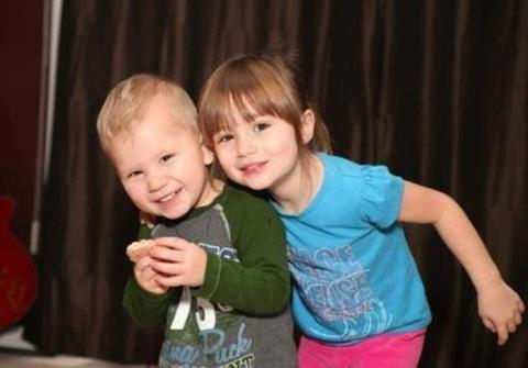 Justin Bieber wallpaper titled Jaxon with sister