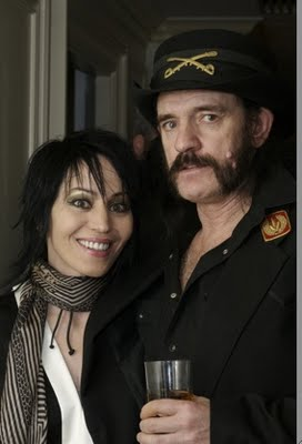 Joan with Lemmy Kilmister (Motorhead)