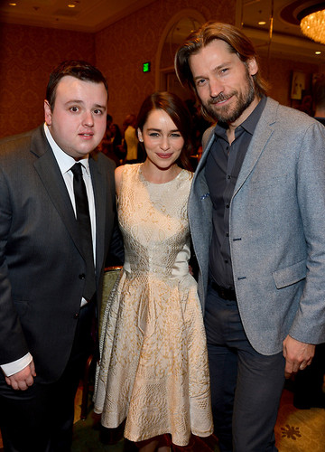 John Bradley, Emilia Clarke & Nikolaj Coster-Waldau - AFI Awards