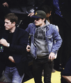 Josh Hutcherson at the Lakers game, 01.11