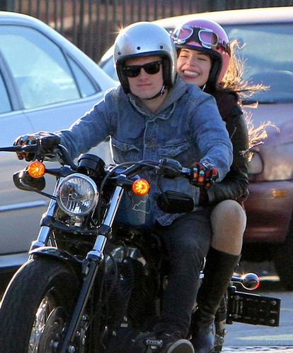 Josh cruising around with a mystery girl on his motorcycle [1.11.13]