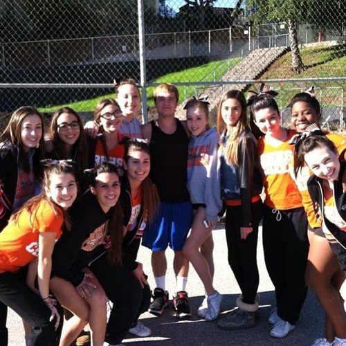 Josh Hutcherson wallpaper with a chainlink fence called Josh with fans at the Ryle highschool today
