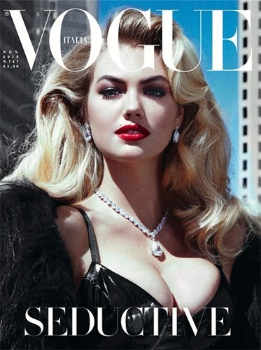"kate upton wallpaper with a portrait entitled Kate Upton for ""VOGUE/ Italy"" - (November 2012)"