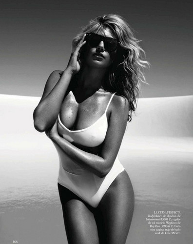 "Kate Upton Hintergrund containing a maillot titled Kate Upton for ""VOGUE/ Spain"" - (June 2012)"