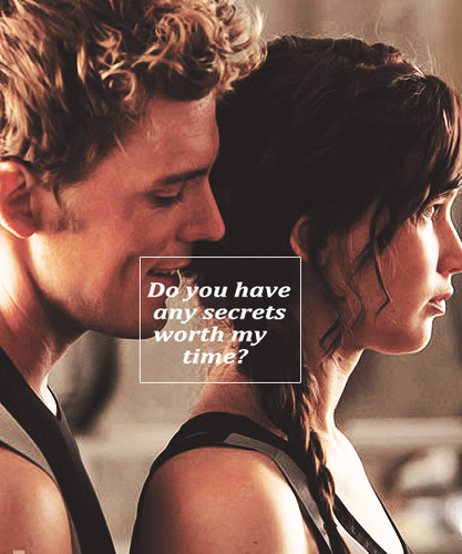 Katniss & Finnick-Catching آگ کے, آگ