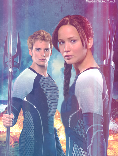 Katniss & Finnick-Catching 火災, 火