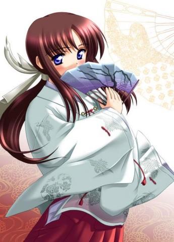 кимоно Аниме Girl