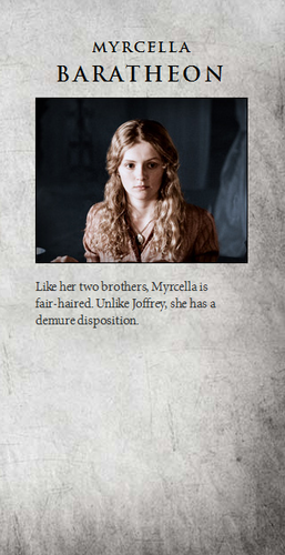 House Lannister wolpeyper called Myrcella Baratheon