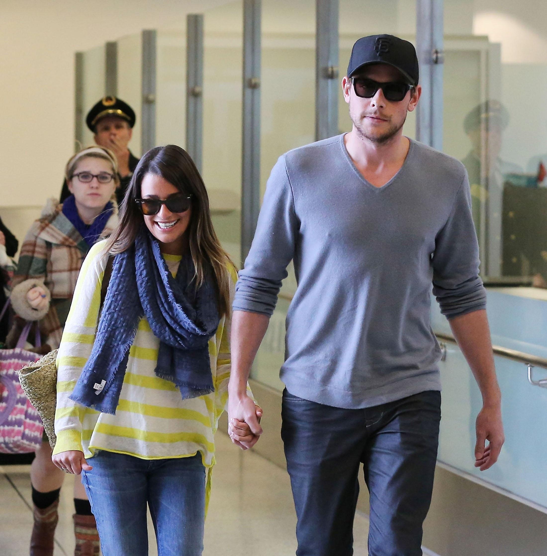 Lea & Cory Arrive At LAX - January 5, 2013 - Lea Michele