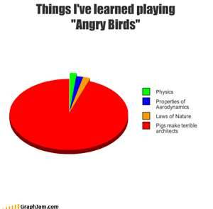 Learned playing Angry Birds