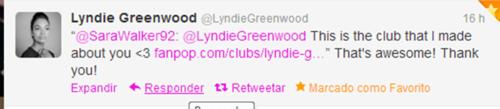 Nikita wallpaper titled Lyndie Greenwood saw her club on fanpop and tweet me