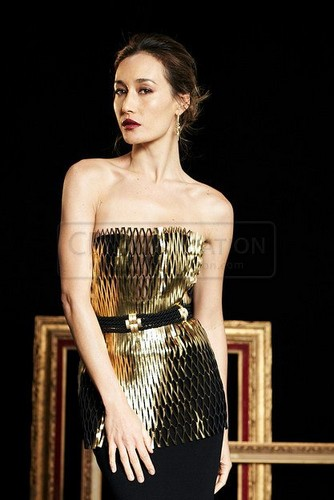 Maggie Q wallpaper with a dinner dress and a gown titled Maggie Q - Audrey Magazine 2012
