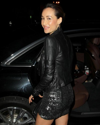 Maggie Q at audi Golden Globes 2013 Kickoff cóctel, coctel Party