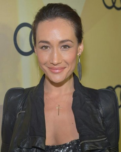 Maggie Q at audi Golden Globes 2013 Kickoff coquetel Party