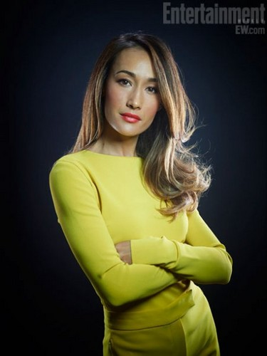 Maggie Q wallpaper with a well dressed person and an outerwear titled Maggie Q