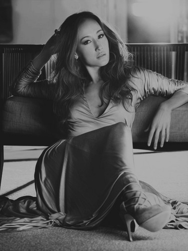 Maggie Q wallpaper probably containing a living room, a family room, and a drawing room titled Maggie Q