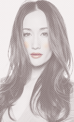 Maggie Q wallpaper containing a portrait called Maggie Q