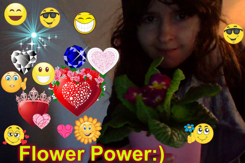 Me with my potted primroses :)